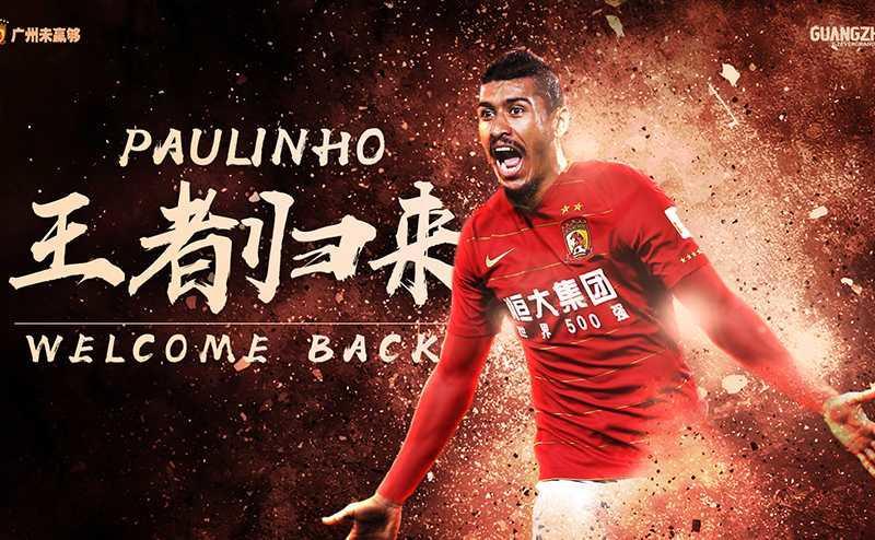 Paulinho ritorno Guangzhou sito ufficiale