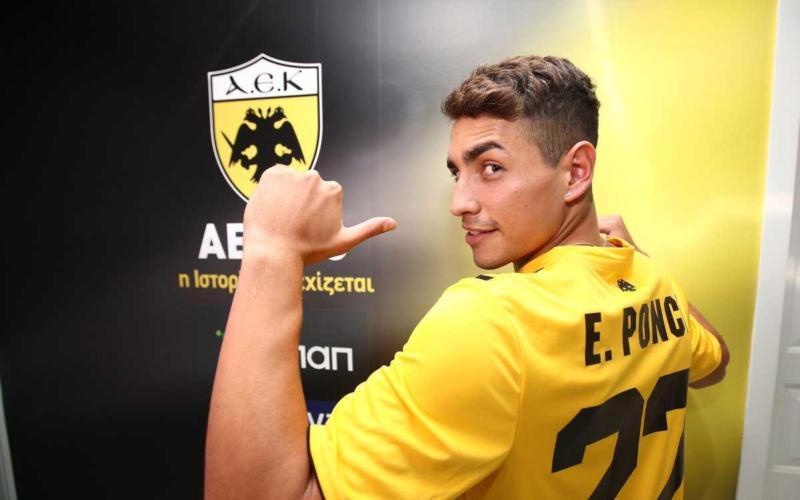 Ponce Twitter uff AEK Atene