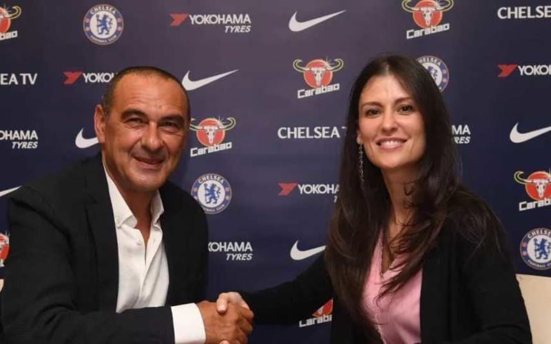 Sarri e Marina Granovskaia Chelsea sito ufficiale