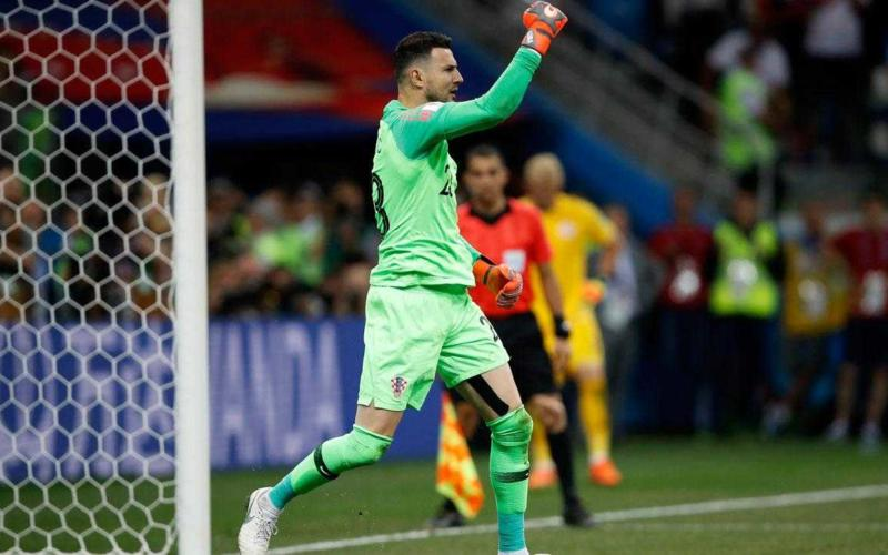 Subasic esultanza Croazia vs Danimarca Foto sports illustrated
