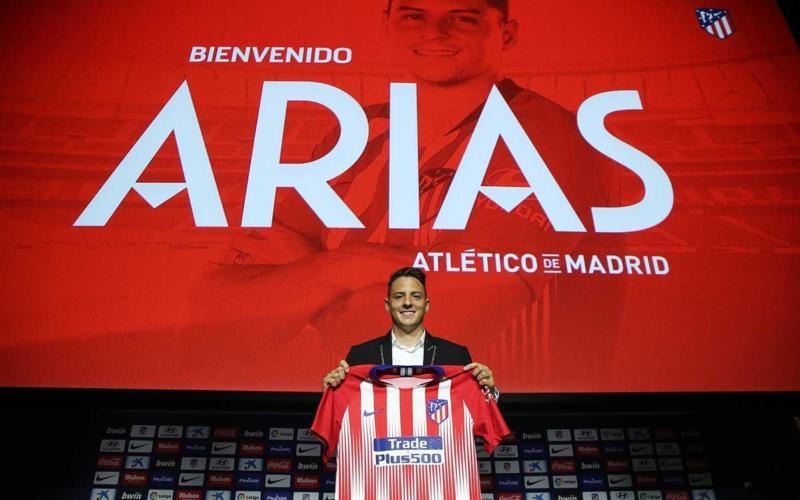 Arias presentazione Atletico Twitter