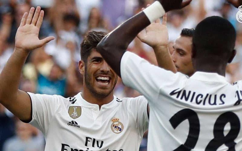 Asensio e Vinicius Real Twitter