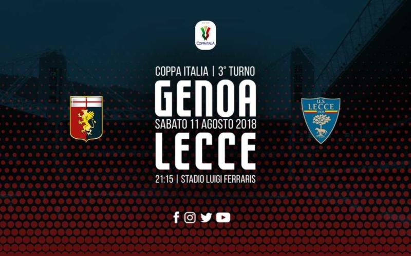 Genoa Lecce Coppa grafica
