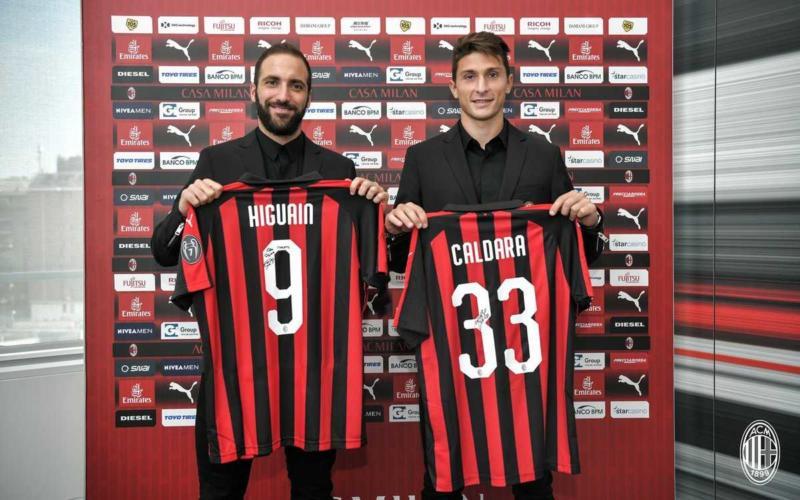 Higuain +Caldara Twitter Milan
