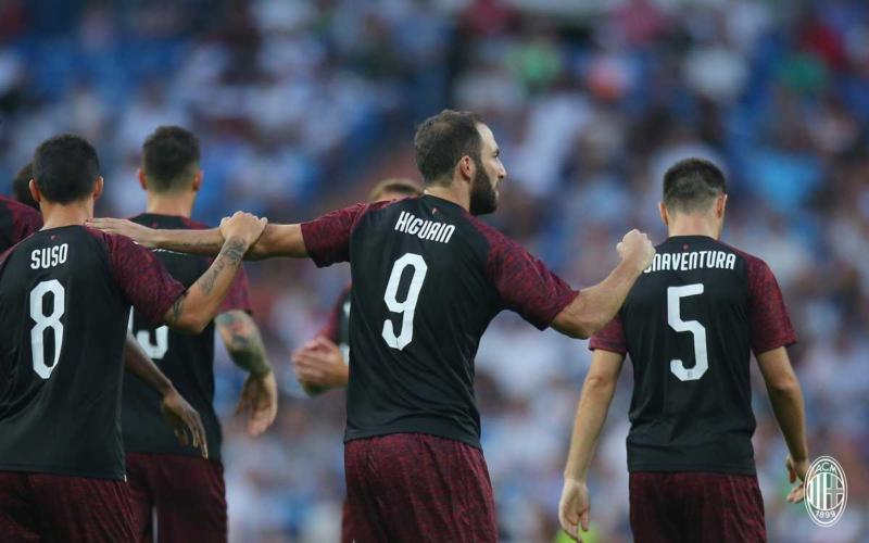 Higuain esultanza vs Real Madrid Milan Twitter