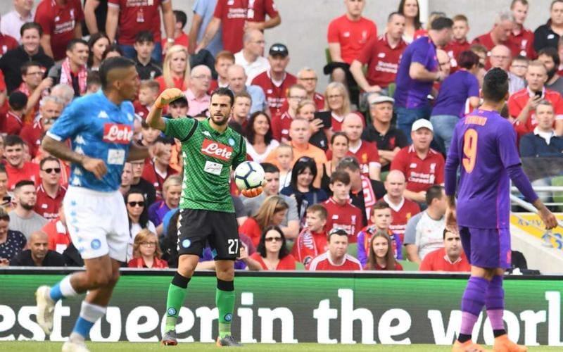 Karnezis vs Liverpool Foto Napoli Twitter