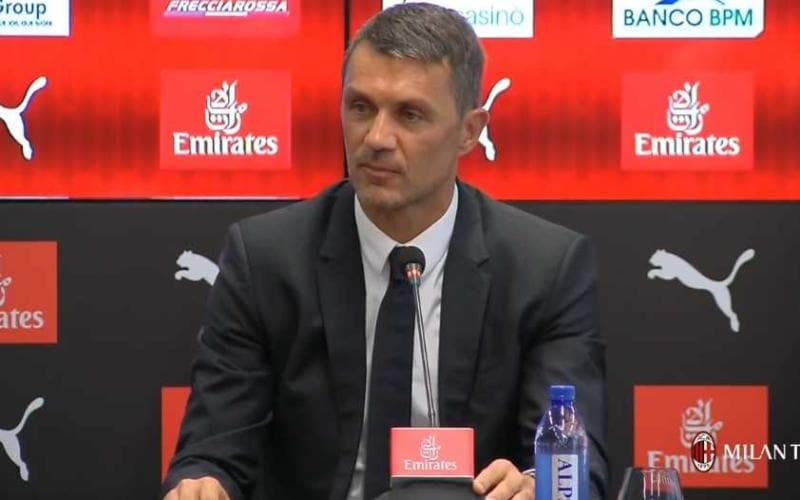 Maldini conferenza Milan TV