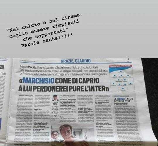 Marchisio moglie e Placido Instagram Roberta Sinopoli