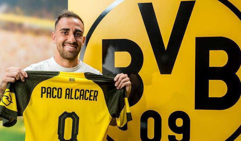 Paco Alcacer sito uff Dortmund