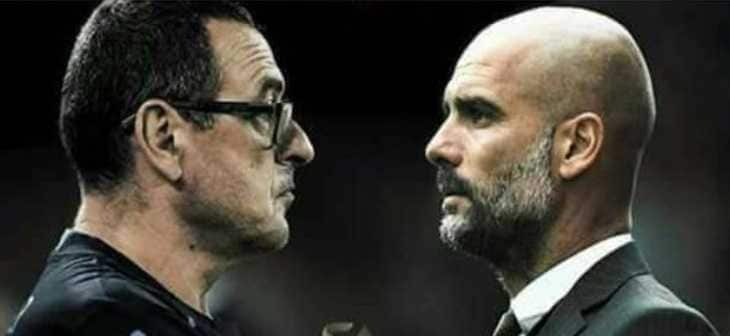 Sarri vs Guardiola thefootballpassion