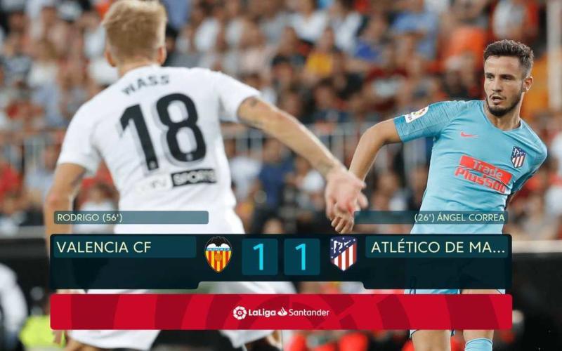 Valencia Atletico 1-1 Liga Twitter