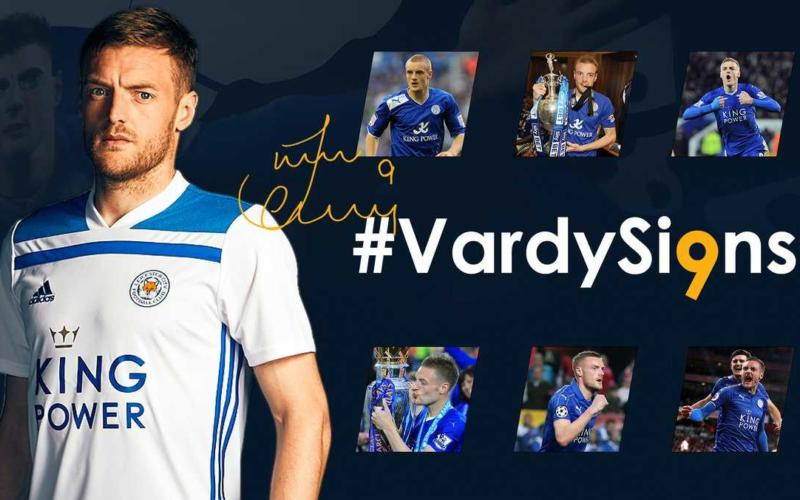 Vardy rinnovo Leicester Twitter