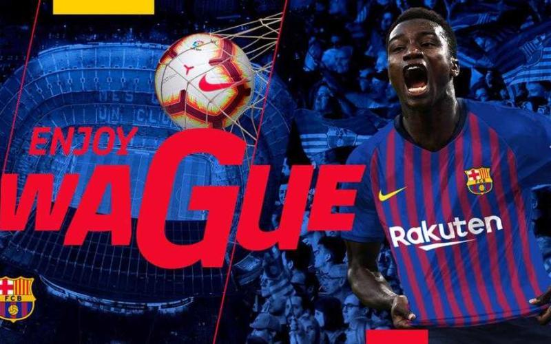 Wagué annuncio Barcellona
