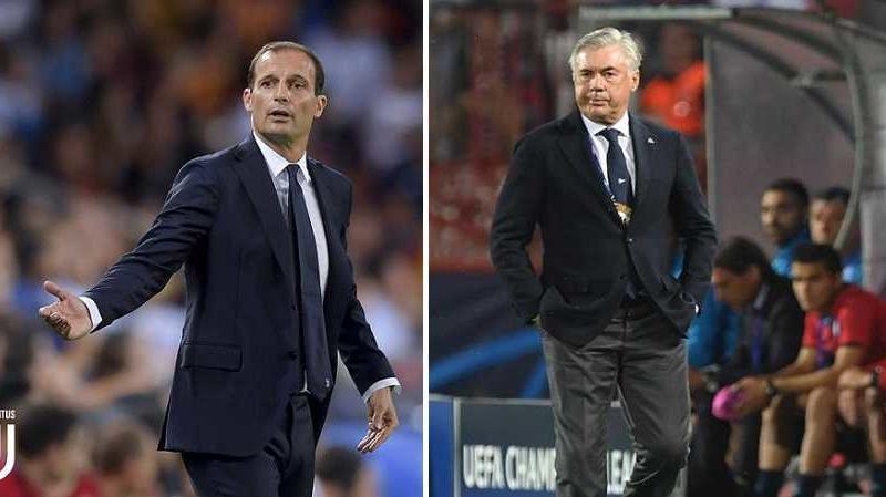 Allegri + Ancelotti - sito Juve + sito Napoli