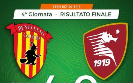 Benevento Salernitana 4-0