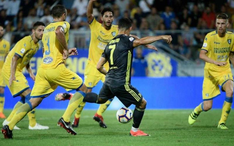 Cristiano Ronaldo Juventus gol vs Frosinone Foto Marca