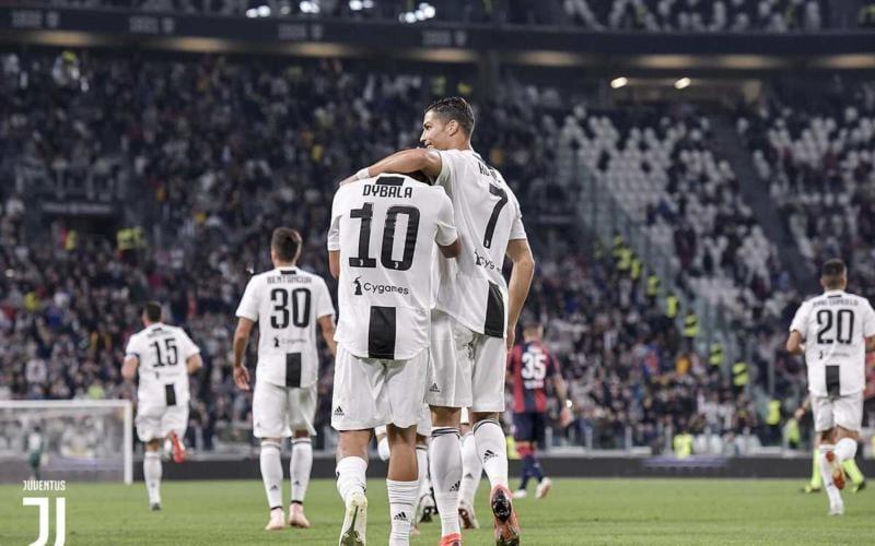 Dybala +Ronaldo Twitter uff Juve