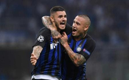 Icardi + Nainggolan Twitter The Sun Football