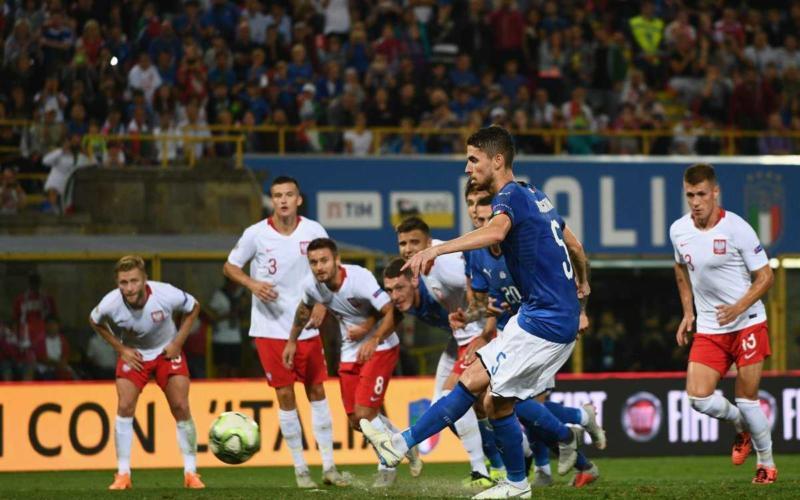 Jorginho gol vs Polonia Foto vivoazzurro