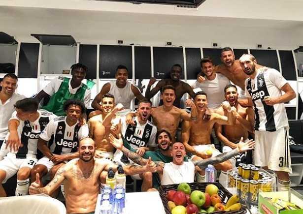 Juventus spogliatoio post Napoli Foto CR7 Twitter