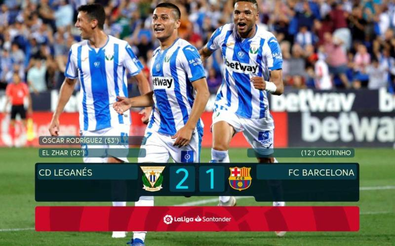 Leganes Barcellona 2-1