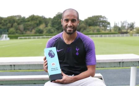 Lucas Moura premio agosto Premier League Twitter