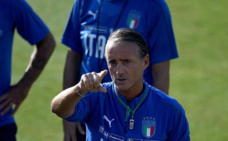 Mancini training Italia Twitter