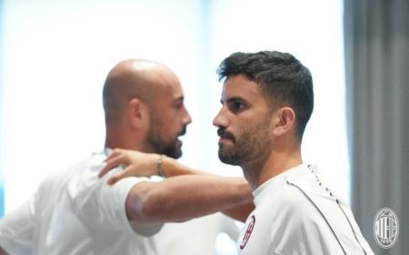 Musacchio training 2018 Milan Twitter