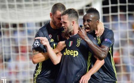 Pjanic e Bonucci vs Valencia Juventus Twitter