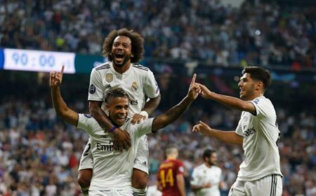 Mariano Diaz vs Roma esultanza Foto Real Twitter