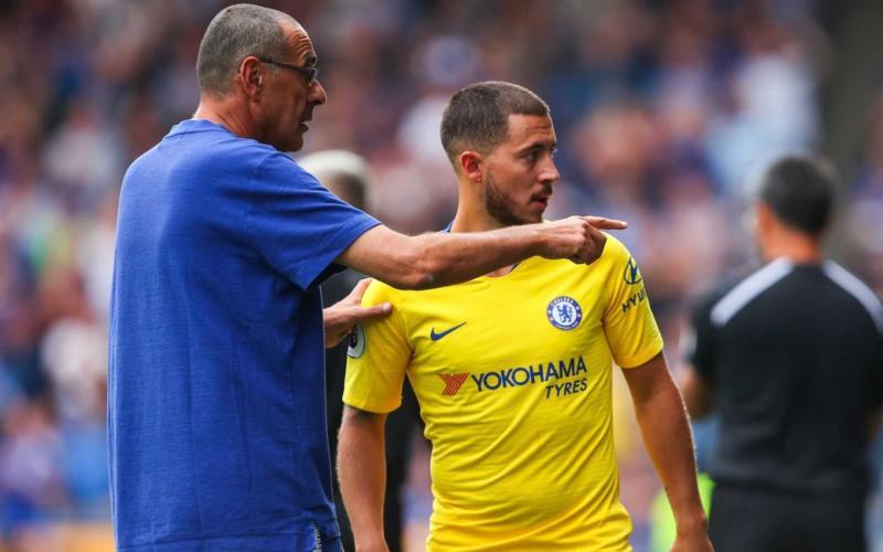 Sarri e Hazard Chelsea Foto Sports Guru