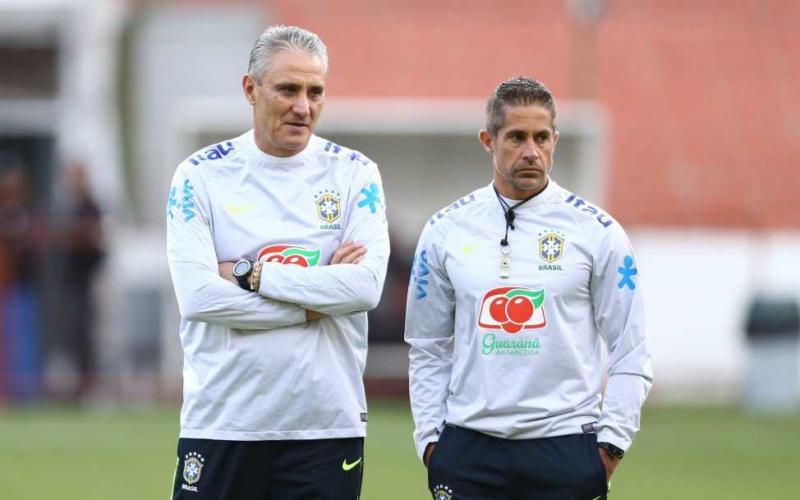 Sylvinho e Tite Foto Twitter Brasile