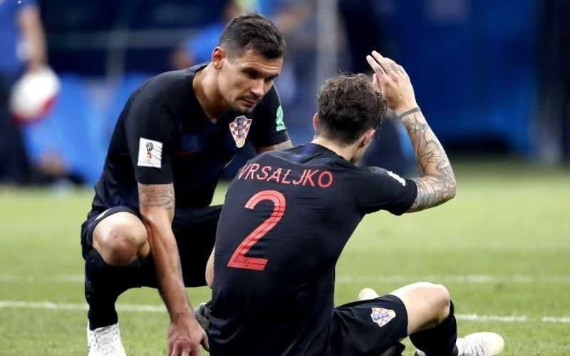 Vrsaljko infortunio Croazia Foto Yahoo Sport UK