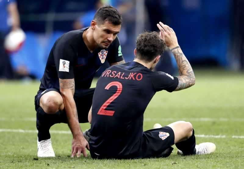 Vrsaljko infortunio Croazia Foto Yahoo Sport UK