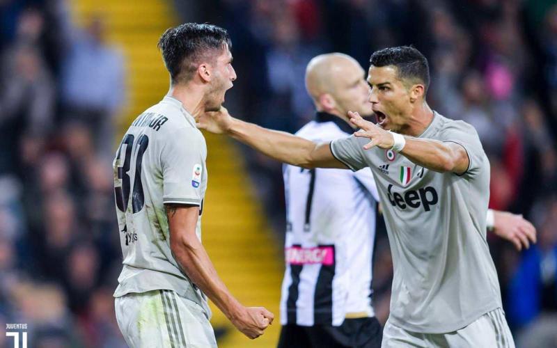 Bentancur + Ronaldo Twitter Juve