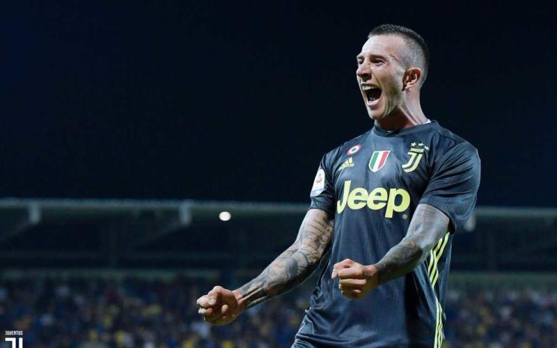 Bernardeschi esultanza vs Frosinone Foto Juventus Twitter