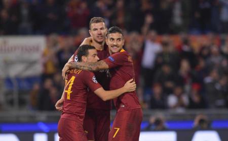 Dzeko esultanza vs CSKA Foto Roma Twitter