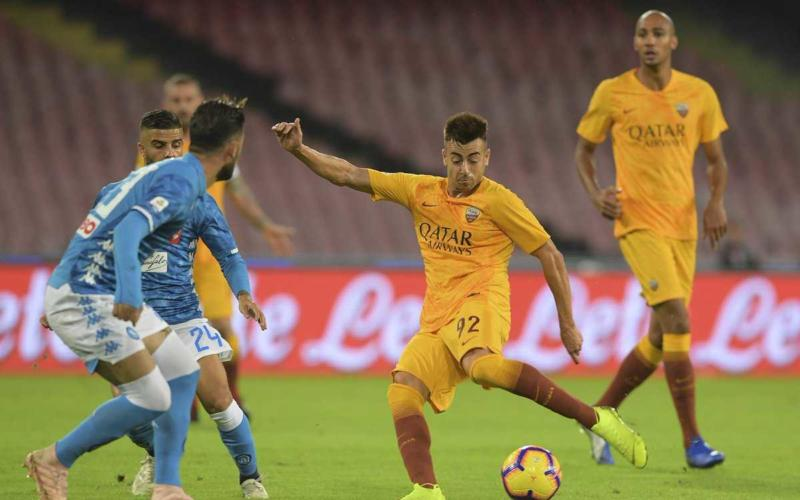 El Shaarawy vs Napoli Foto Roma Twitter