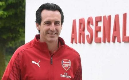 Emery Arsenal training Foto Daily Mirror