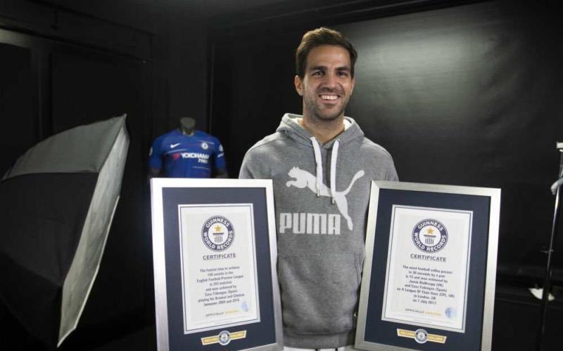 Fabregas Guinness World Record 100 assist