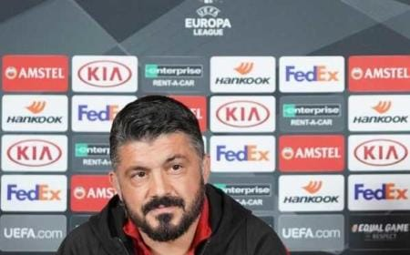 Gattuso conferenza Europa League Milan Twitter