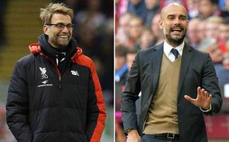 Guardiola + Klopp telegraph.co.uk