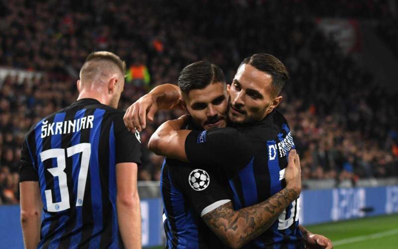 Icardi e D'Ambrosio vs PSV Champions Twitter