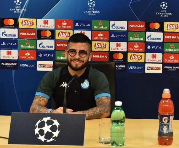 Insigne conferenza Champions Napoli Twitter