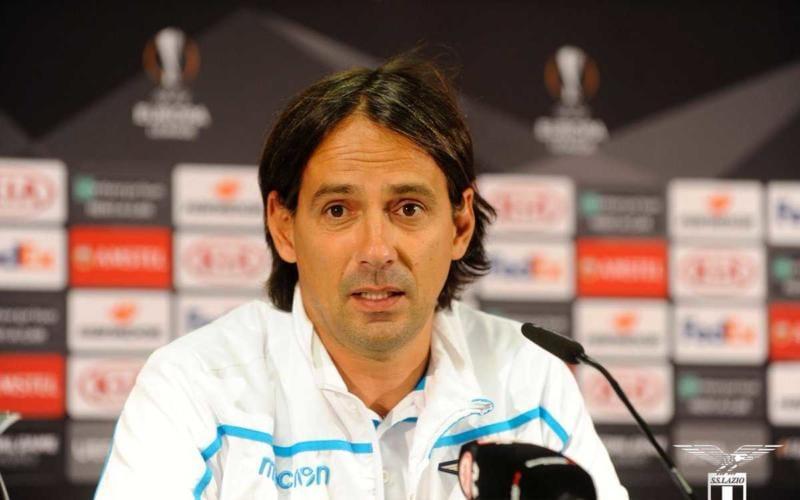 Inzaghi conferenza Europa League Lazio Twitter