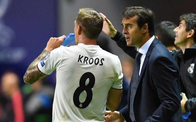 Kroos e Lopetegui Foto Kroos Twitter