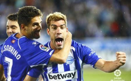 Manu Garcia esultanza vs Real Foto Liga Twitter
