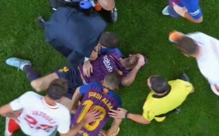 Messi infortunio braccio Foto Marca