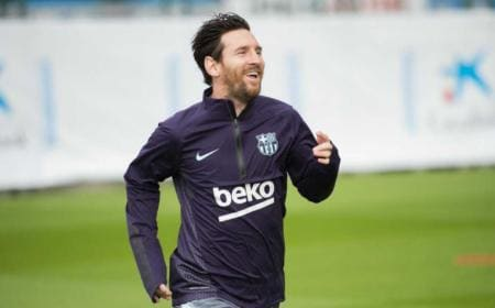 Messi training Barcellona Twitter