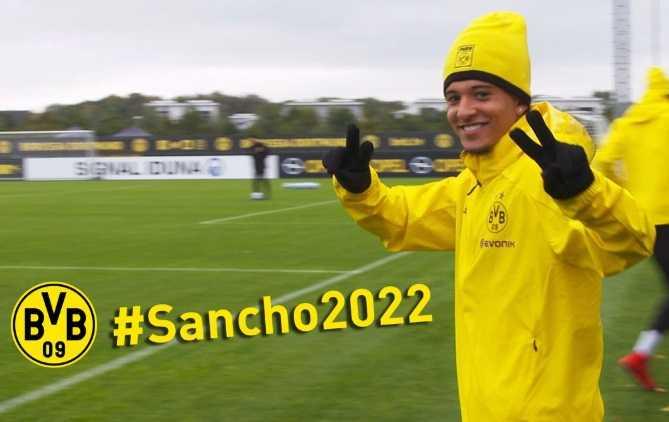 Sancho rinnovo Borussia Dortmund Twitter